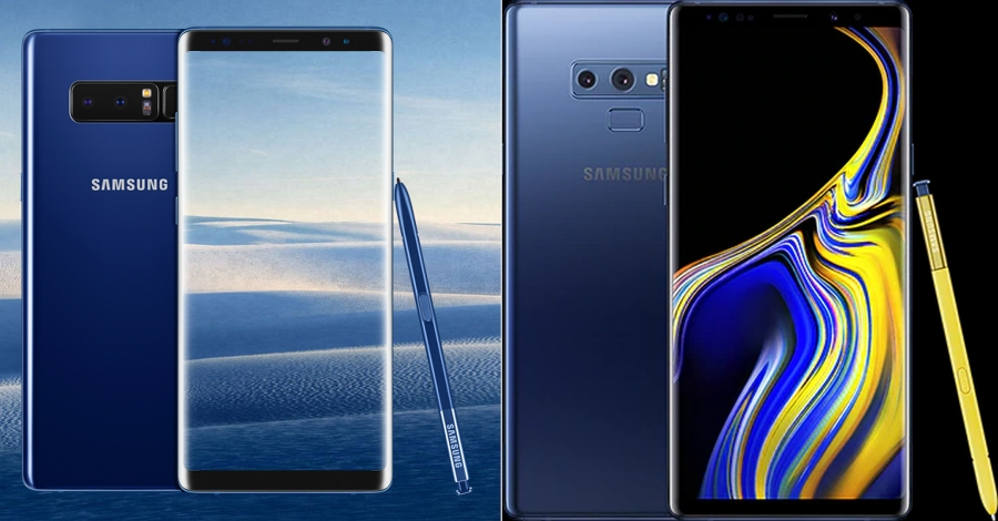 Samsung Galaxy Note 8 vs Note 9.