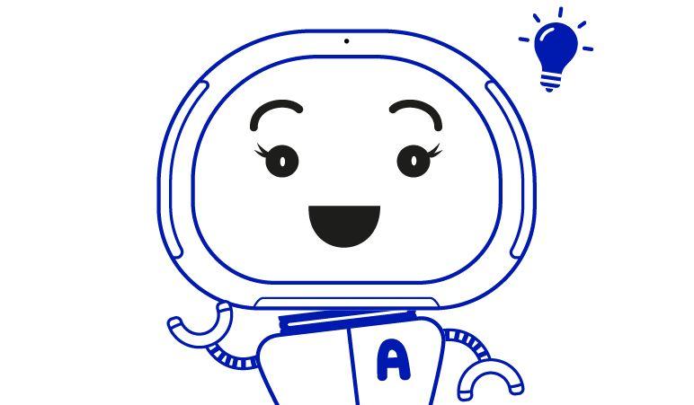 Elisa teenindusrobot Annika illustratsioon. Allikas: Elisa