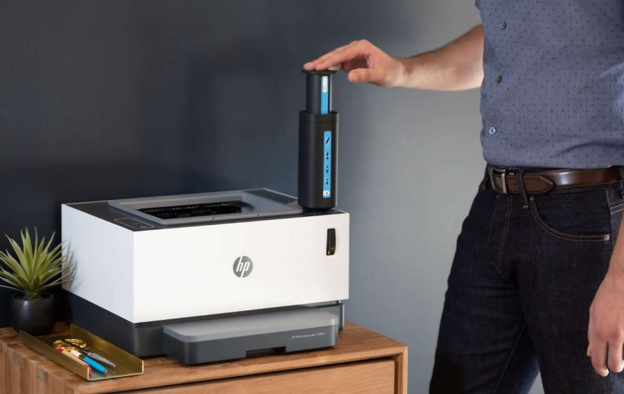 HP Nevesrstop laserprinter.