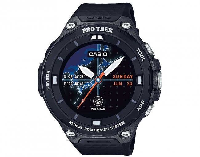 Casio nutikell Android Wear´iga.